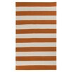 <strong>Frontier Burnt Orange/Winter White Striped Rug</strong> by Surya
