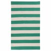 Surya Frontier Emerald Green/Ivory Striped Rug