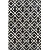 Surya Trail Black/Ivory Geometric Area Rug
