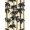Surya Bondi Beach Black/Ivory Floral Indoor/Outdoor Area Rug