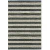 Capel Rugs Elsinore Cinders Black/Grey Striped Outdoor Area Rug