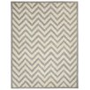 Capel Rugs Charisma Silver / Ivory  Chevron Area Rug