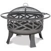 Uniflame Corporation Wood Outdoor Firebowl With Geometric Design