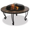 Uniflame Corporation Outdoor Slate Mantel with Copper Accents Fire Pit