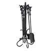 <strong>Uniflame Corporation</strong> 4 Piece Heavy Crook Handle Wrought Iron Fire Tool Set With Stand