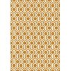 Dynamic Rugs Trend Orange Geometric Area Rug