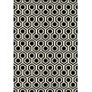 Dynamic Rugs Trend Black Geometric Area Rug