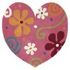 Dynamic Rugs Fantasia Heart Light Pink Kids Rug