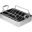 "Wisconsin Aluminum Foundry 14"" Polished Aluminum French Roaster with Rack"