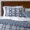Mercury Row Trellis Duvet Cover Set in Navy