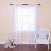 Best Home Fashion, Inc. Burnout Sheer Rod Pocket Curtain Panels (Set of 2)