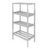 """Channel Manufacturing Tubular Dunnage 64"""" H Four Shelf Shelving Unit"""