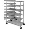 "Channel Manufacturing Mobile Cooling 70.5"" H Six Shelf Shelving Unit"