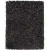 Anji Mountain Black/Gray Shag Solid Area Rug