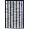 Anji Mountain Hamptons Surf Blue Striped Area Rug
