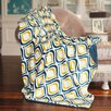 BNF Home Mystique Flannel and Solid Back Microfiber Polyester Throw Blanket