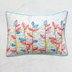 A1 Home Collections LLC Exotic Profusion Clustered Leaf Embroidered Throw Pillow