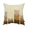 A1 Home Collections LLC Potpourri Felt Leaves Applique Throw Pillow