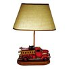 "Judith Edwards Designs Antique Fire Engine 22"" H Table Lamp with Empire Shade"