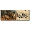 WGI-GALLERY Welcome Meadow Music Elk Painting Print on Wood