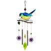Russco Metal/Glass Bird Wind Chime