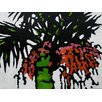 Art Excuse 'Palms#3' by Susan Lhamo Original Painting on Wrapped Canvas