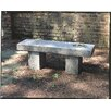 Campania International Autumn Leaves Cast Stone Garden Bench