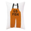Kate Nelligan Go Fish Outdoor Pillow