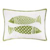 Kate Nelligan 2 Fish Embroidered Linen Pillow