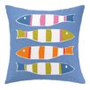 Kate Nelligan Picket Fish Outdoor Pillow