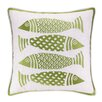 Kate Nelligan 4 Fish Embroidered Linen Pillow