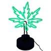 "TMD Holdings Pot Leaf Desk Neon Illuminating 16.5"" H Table Lamp"