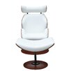 Fine Mod Imports Luxur Chaise Lounge and Ottoman Set