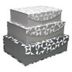 HOM Home Eseence 3 Piece Urban Abstract Nesting Box Set