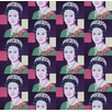 Flavor Paper Queen Elizabeth Andy Warhol Wallpaper