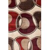 Central Oriental Pinnacle Beige/Red Around the Block Area Rug