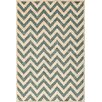 Central Oriental Terrace Bone/Blue Static Area Rug