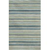 <strong>C. L. Hand-Tufted Blue/Green Stripe Rug</strong> by Jaipur Rugs