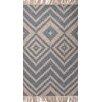 Jaipur Rugs Desert Blue/Ivory Geometric Indoor/Outdoor Area Rug
