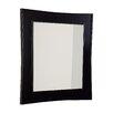 American Imaginations Transitional Birchwood-Veneer Wall Mirror