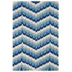 Kaleen Home and Porch Blue Geometric Indoor/Outdoor Area Rug