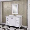 "InFurniture WB 60"" Single Bathroom Vanity Set with Mirror"