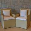 Wicked Wicker Furniture Wicker Chairs with Cushions (Set of 2)
