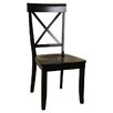<strong>Contemporary X Back Side Chair (Set of 2)</strong> by Comfort Decor