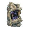Hi-Line Gift Ltd. Fiber and Resin Tree Trunk Waterfall Fountain