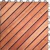 "Vifah Acacia Hardwood 11.22"" x 11.22"" Interlocking Deck Tiles (Set of 10)"