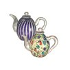 <strong>Dale Tiffany</strong> 2 Piece Favrile Teapot Figurine