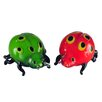 Dale Tiffany Lady Bug Art Glass Sculpture (Set of 2)