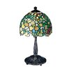"Dale Tiffany Hydrangea 13.5"" H Table Lamp with Bowl Shade"
