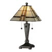 "<strong>Dale Tiffany</strong> Atherton 21.75"" H Table Lamp with Square Shade"
